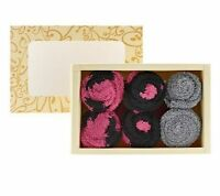 Passione Set Of 3 Cupcake Socks With Box - In Box - Qvc Item A-238222