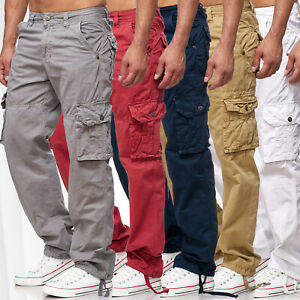 Hommes-Cargo-Jeans-Loose-Fit-Chino-Pantalon-cargo-Pantalon-travail-Indy-Jones