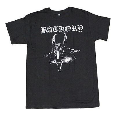 Bathory Goat Black Metal Band Men's T-Shirt Black