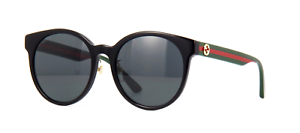NEW-AUTHENTIC-GUCCI-GG0416SK-002-BLACK-MULTICOLOR-FRAME-GREY-LENS-55mm
