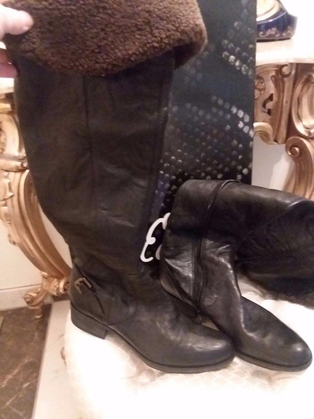 NEU Beautiful Sam Edelman Leder/Shearling Over The Knee Stiefel 7 M
