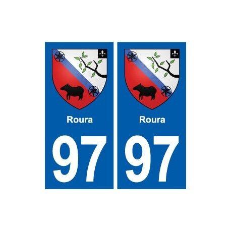 97 Roura blason autocollant plaque stickers ville droits