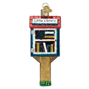 Old World Christmas LITTLE LIBRARY (36294)N Glass Ornament w/OWC Box