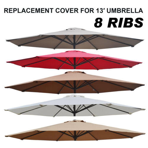 Multi-Color 13/' Patio Umbrella 8 Ribs Cover Canopy Replacement Top Outdoor