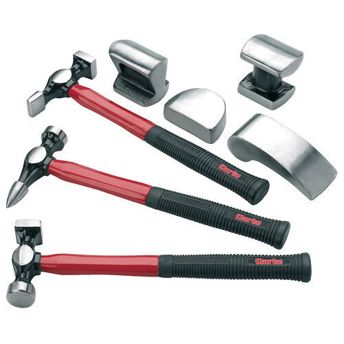 Clarke CPB7C 7 pce Panel Beating Set Garage Tools