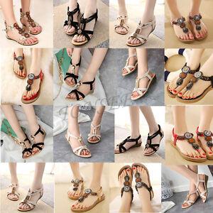 2018-Bohemia-Women-Summer-Slippers-Flip-Flops-Flat-Sandal-Beach-Thong-Shoes-Lot