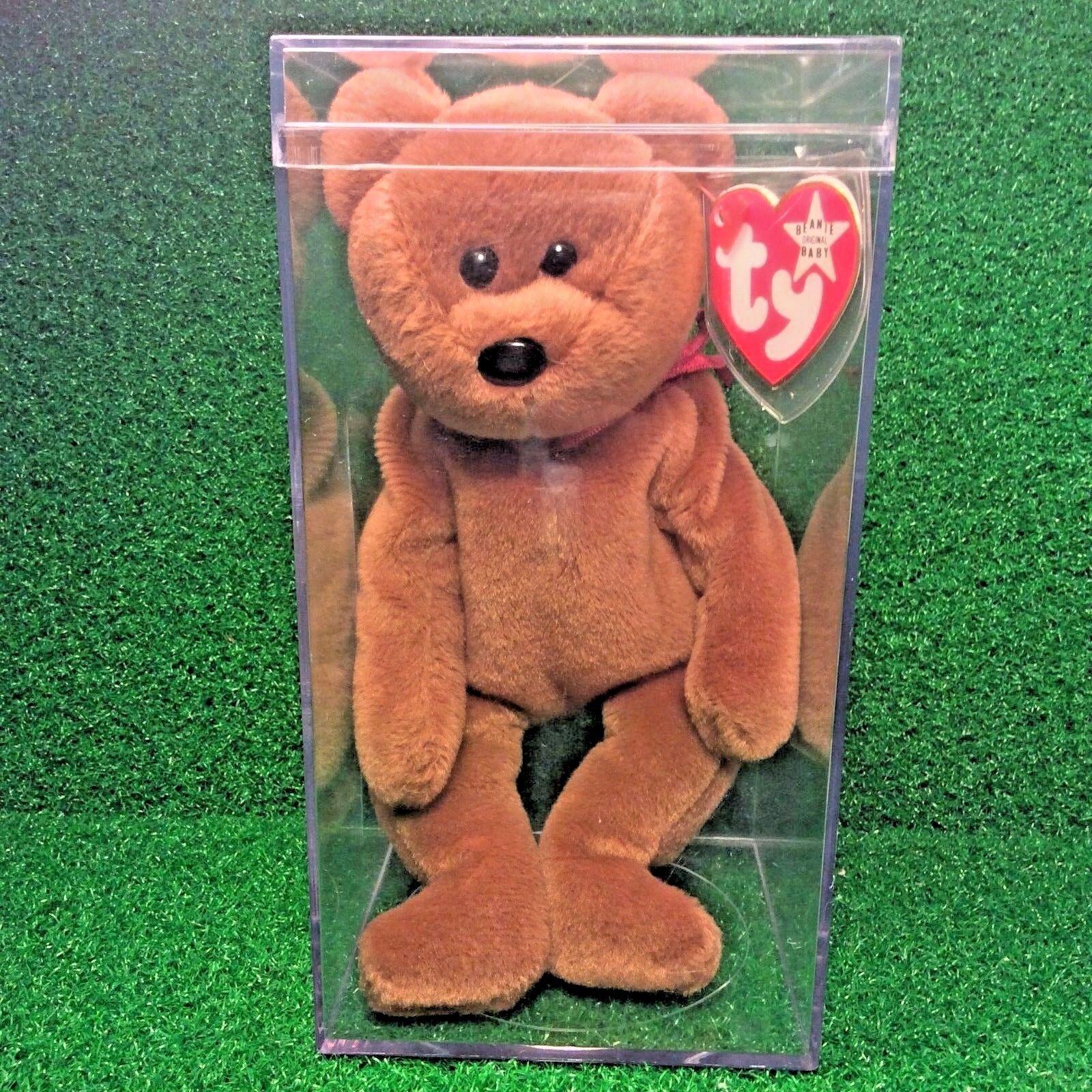Fast ausgestorben 1993 ty beanie baby teddy Weiß star pvc - kanadischen hintern mwmt