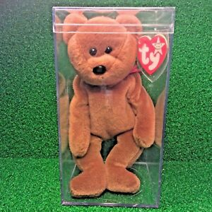 6bc56282ed3 Nearly Extinct 1993 Ty Beanie Baby Teddy Bear WHITE STAR PVC ...