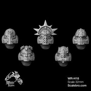 HELMETS TYPE SANGUIS 32mm by Liber Daemonica bitz resin kit