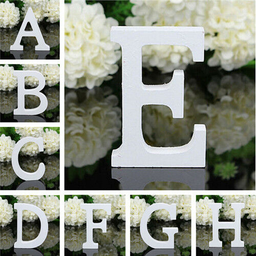 """A-Z Wooden Shabby Chic Letters Large Free Standing Vintage Alphabet 6/""""//15cm New"""