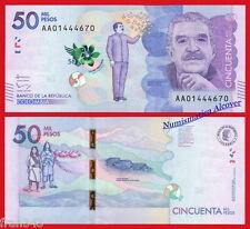 COLOMBIA 50000 Pesos 2015 (2016) Garcia Marquez Pick NEW AA  SC / UNC