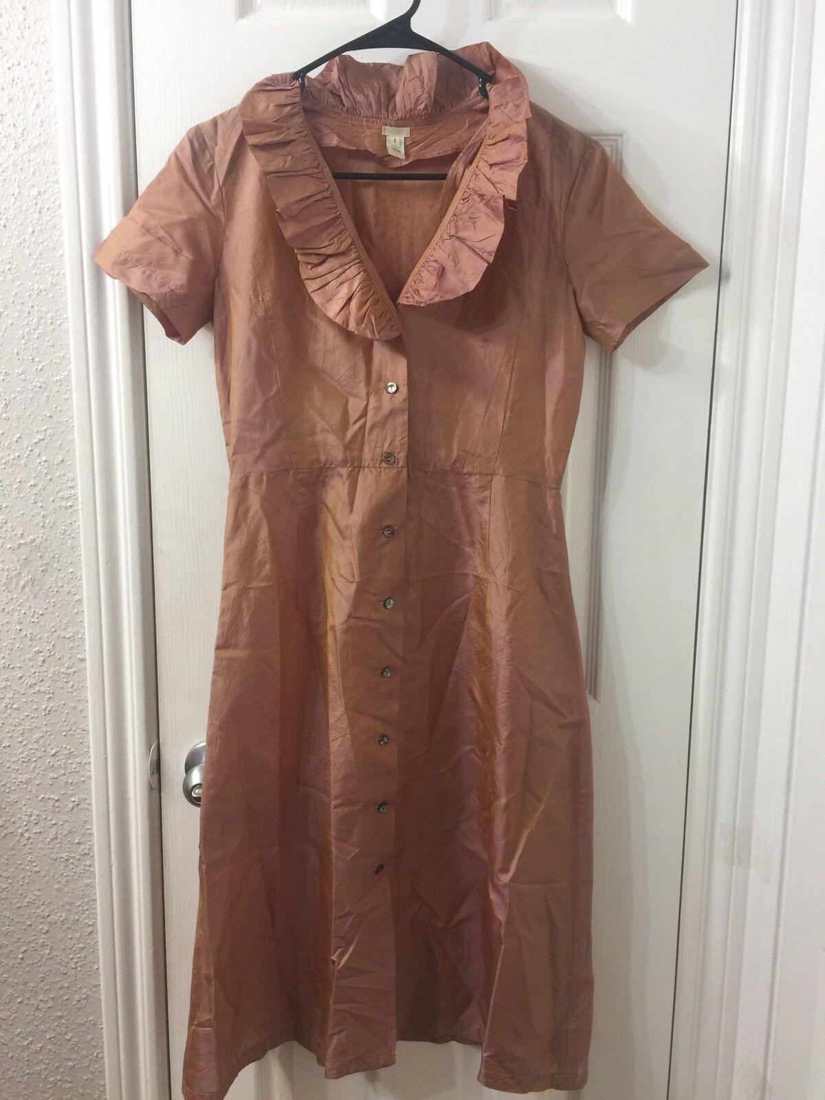 Dosa Silk gold Copper Dress Sz 1