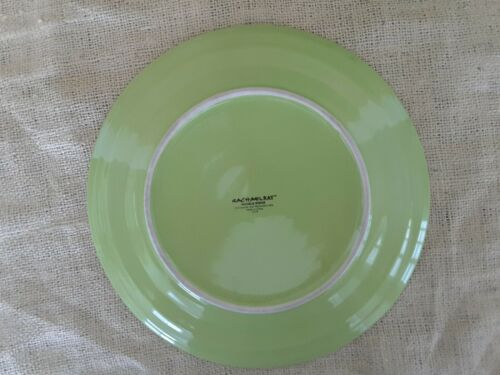 """Details about  /Rachael Ray Double Ridge Dinner Plates Apple Green 11/""""  Lot of 2 H019"""