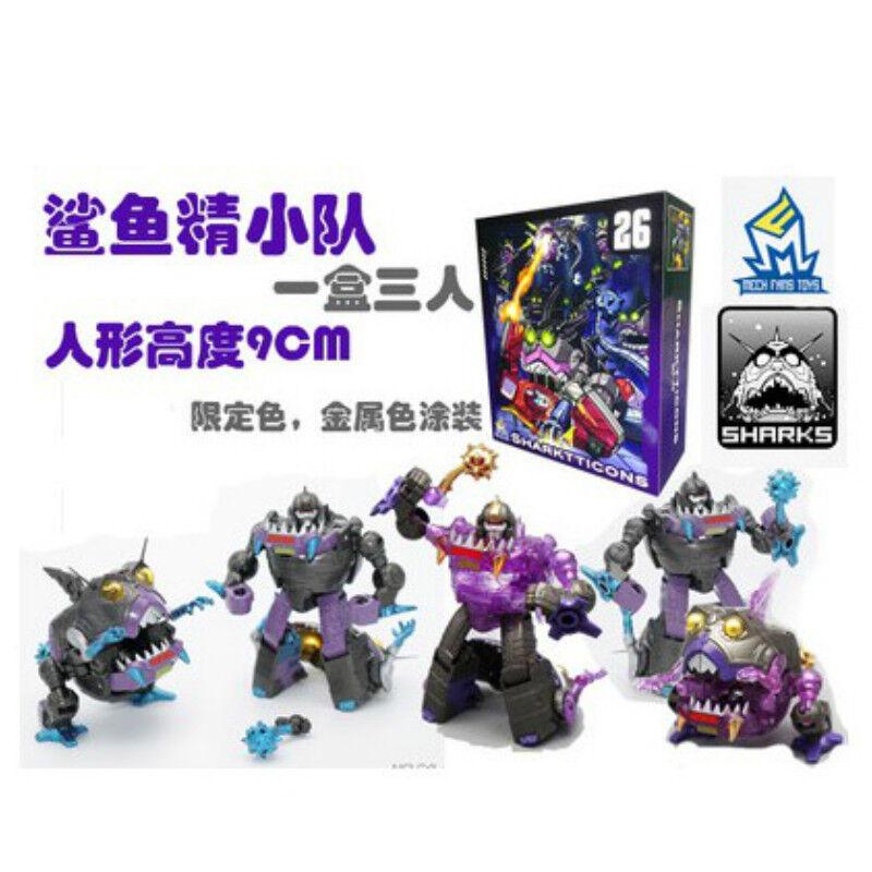 MF26 Sharkticons Figure toys Transformation 3pc MFT