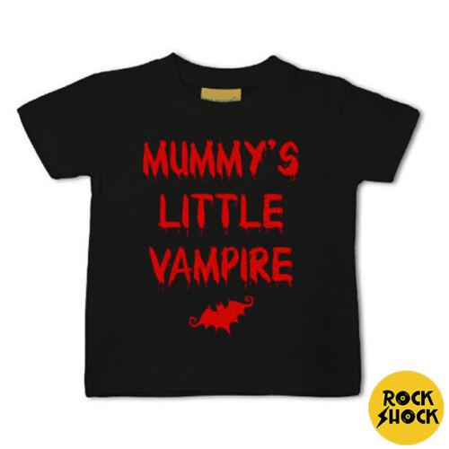 Mummy/'s Little Vampire T-shirt noir Baby Goth Punk Alternative Metal Mignon Cadeau
