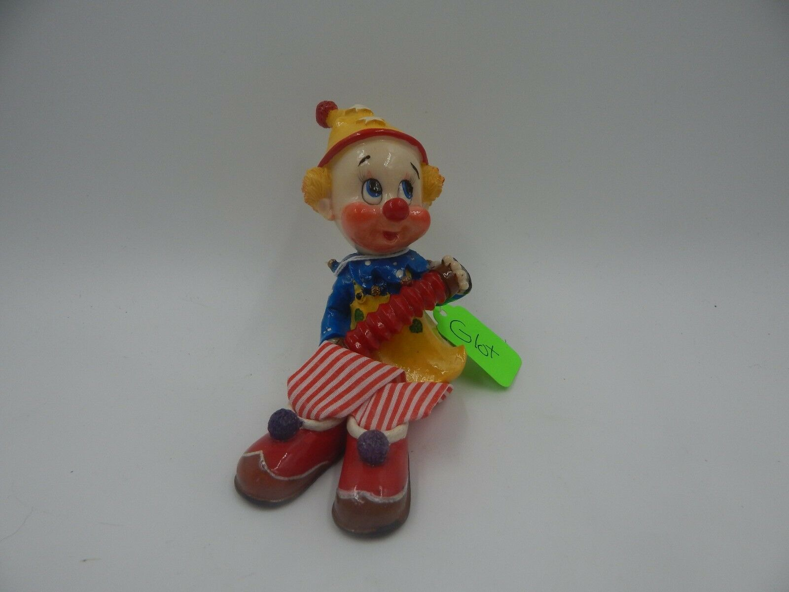 Vintage Handmade Clown Doll Puppet with Accordion 9