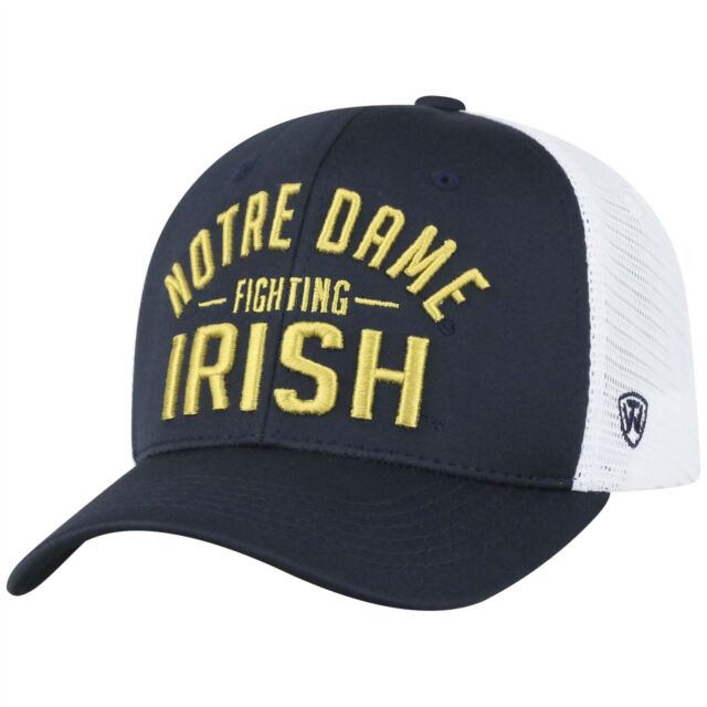 online retailer f2ff8 cc6c5 Top Of The World NCAA Notre Dame Fighting Irish Trainer Hat Mesh Adjustable  Navy