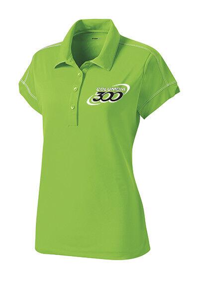 Columbia 300 Women's Jazz Performance Polo Bowling Shirt Dri-Fit Lime Green