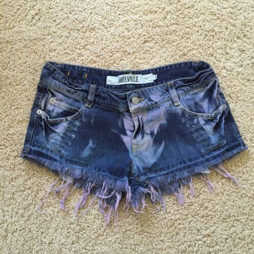 Raro jeans Pantaloncini Brandy Melville di Tie Dye blu Distressed pq6wHpr