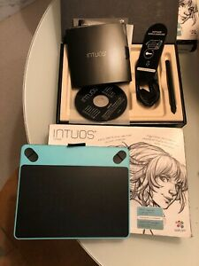 Wacom-Intuos-Draw-Pen-SMALL-Teal-Digital-Graphic-Tablet-Barely-Used
