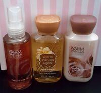 Bath & Body Works Warm Vanilla Sugar Mini Wash + Lotion & Body Mist 3 Oz Set