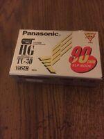 Panasonic Hg Tc-30 Compact Videocassette Vhs-c Sealed