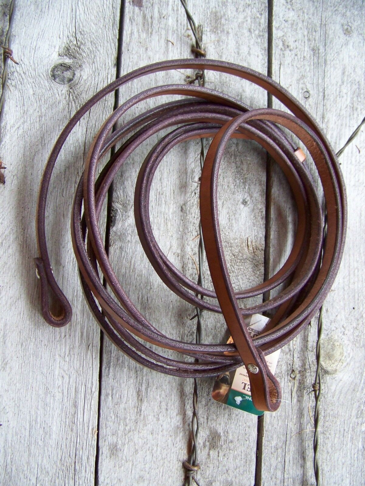 Reins - Single Ply Bridle Leather (7'+ x 5 8  - Show Harness Leather)