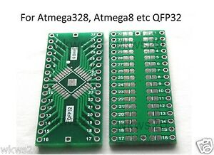 TQFP-QFP-32-0-8mm-to-DIP-PCB-Adapter-arduino-Atmega328-atmega8-SMD-AVR-STM32