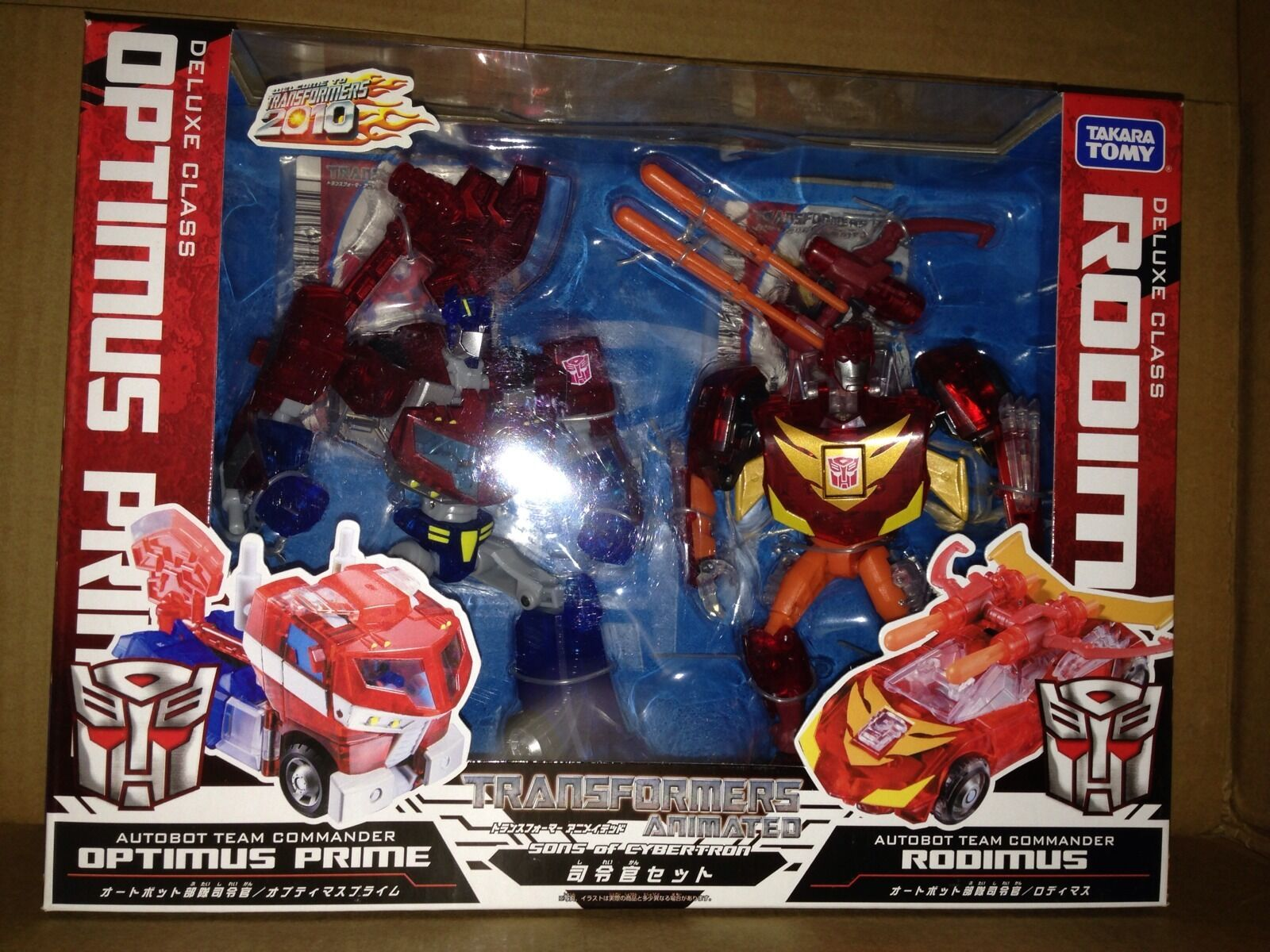TAKARA TOMY Transformers Animated Optimus Prime & Rodimus Clear Japan Exclusive