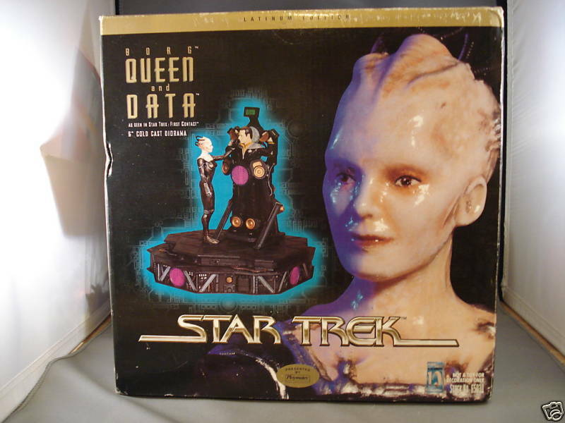 1997 Star Trek Borg Regina e Dati Cold Cast Diorama