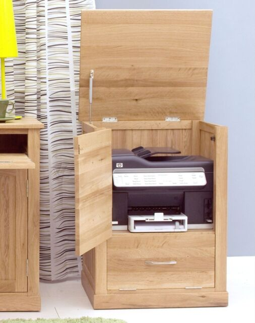 mobel solid oak office furniture printer storage cupboard cabinet unit