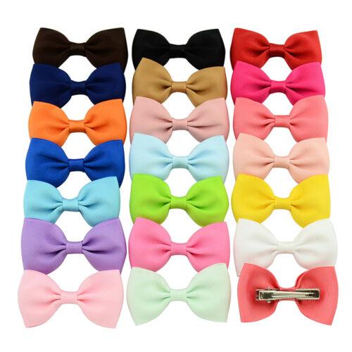 20 Pcs//Lot Baby Girls  Hair Ribbon Bows Alligator Hair Clips Bow HairpinsN/_IQ