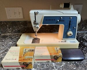Singer-Touch-amp-Sew-628-Deluxe-Zig-Zag-Sewing-Machine-Vintage-Cams-Accessories