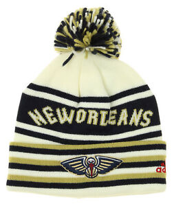 Details About Adidas Nba Youth Boys New Orleans Pelicans Cuffed Knit Beanie With Pom Hat Osfm