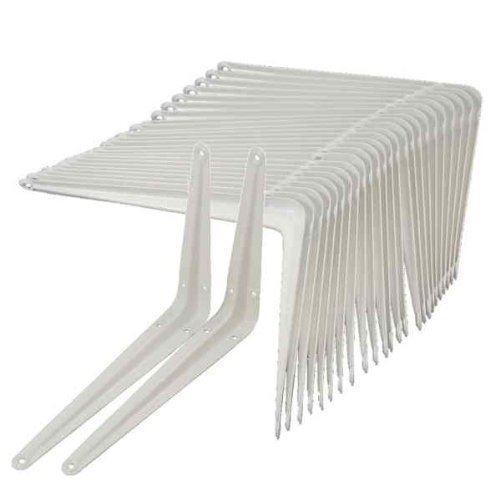 New White Metal Shelf Support Mount Angle London Shelving Brackets DIY