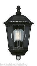 Outdoor Wall Light Half Lantern Light In Grey Finish with PIR 15019/54/10 ZAGREB