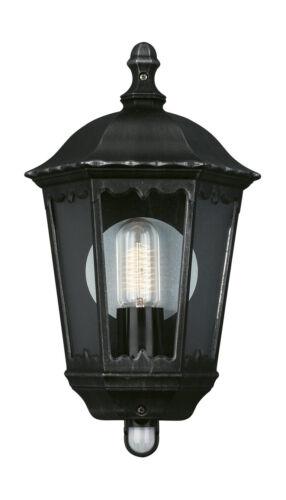 Outdoor Wall Light Half Lantern Light In Grey Finish with PIR 15019//54//10 ZAGREB