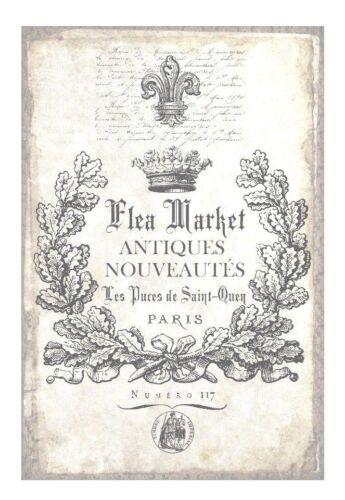 "Vintage/"" Flea Market/"" Page--7 cm wide x 15 cm High--Printed on 160gsm Paper"