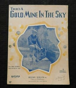 1937-034-There-039-s-A-Gold-Mine-In-The-Sky-034-Bing-Crosby-SHEET-MUSIC-Decca-Records
