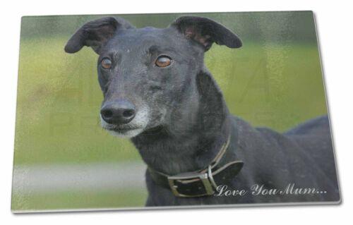 Black Greyhound /'Love You Mum/' Extra Large Toughened Glass Cuttin AD-GH8lymGCBL