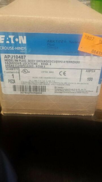 CROUSE HINDS 100 AMP 4W 4P PLUG APJ10477 MATES WITH AR1041 = APP ACP1044CD