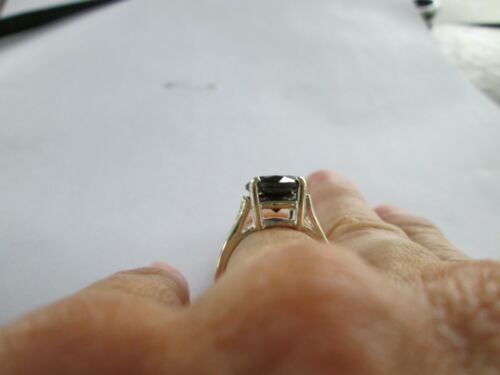 Details about  /4.00ct NATURAL BLACK DIAMOND RING,CERTIFICATE,FREE DIA TESTER Sizes 5,6,7,8,9,10