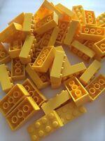 50 Lego Bulk Lot 2x4 Yellow Bricks Blocks 2 X 4