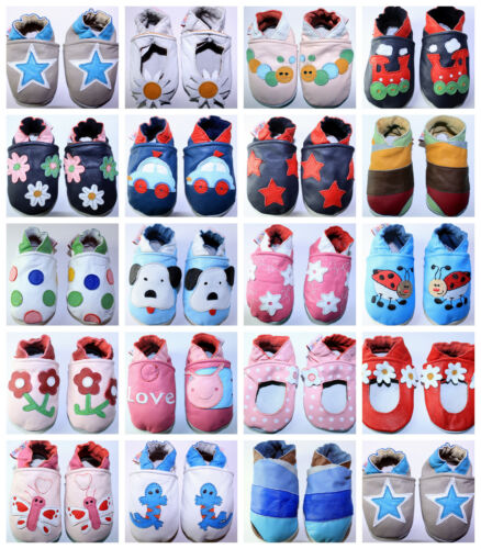 UK FREE post Soft Leather Baby Girls Boys Shoes 0-6 12-18,18-24 months 6-12