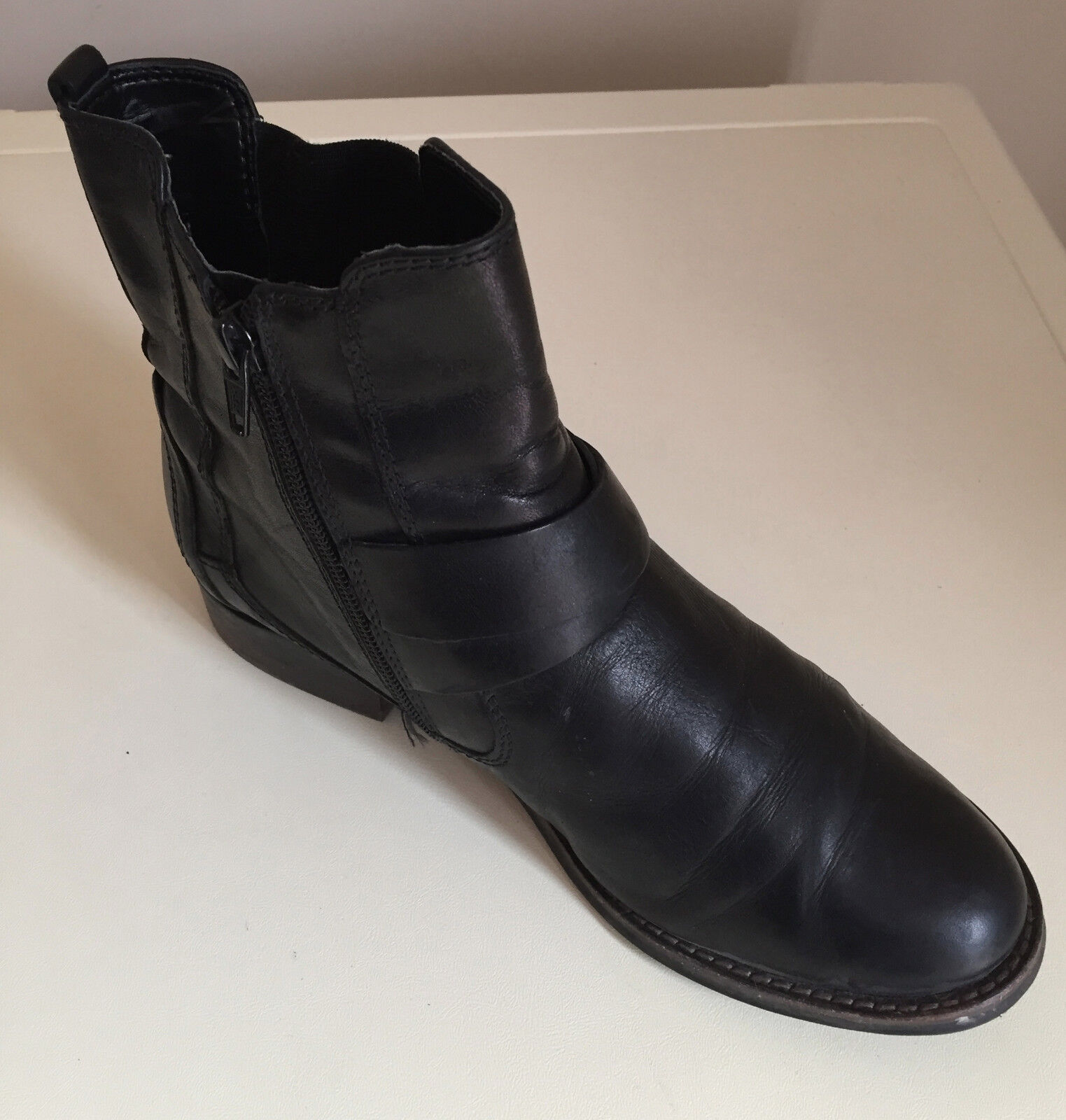 CLARKS Damenschuhe ANKLE LEATHER BOOTS   SIZE 6