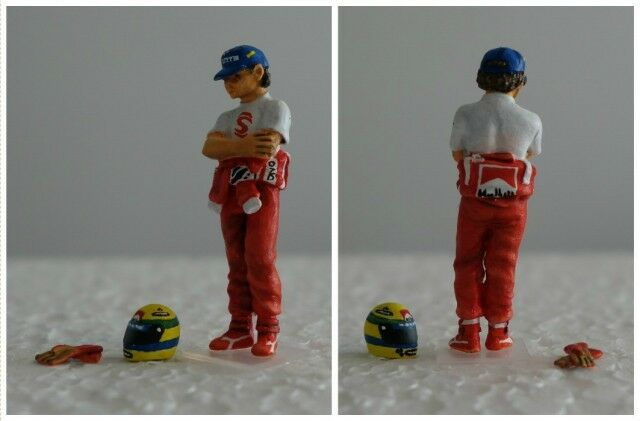 Ayrton SENNA McLaren figuren pilote diorama 1  43 F1 förarfigur