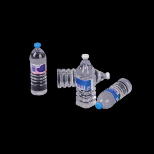 2pcs Bottle Water Drinking Miniature DollHouse 1:12 Accessory Collection Decor6K