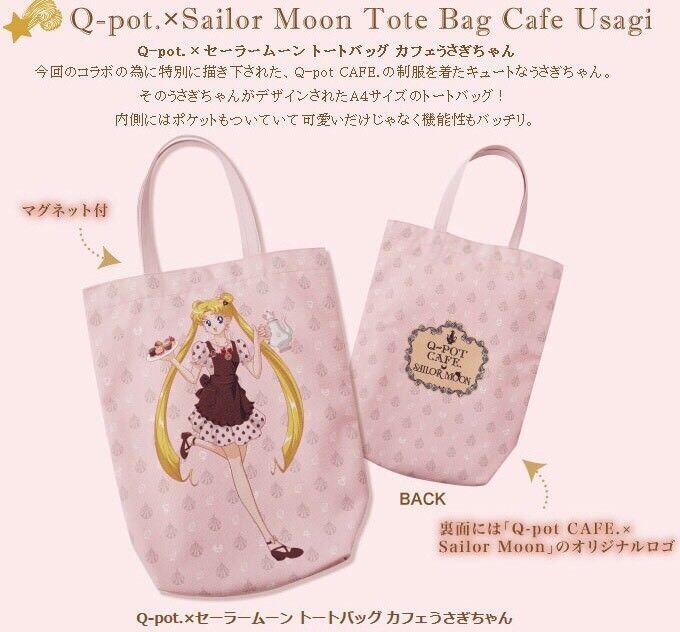 Sailor Moon Q-Pot Q Pot Cafe Sailor Moon Tote Bag Cafe Usagi Limited Japan