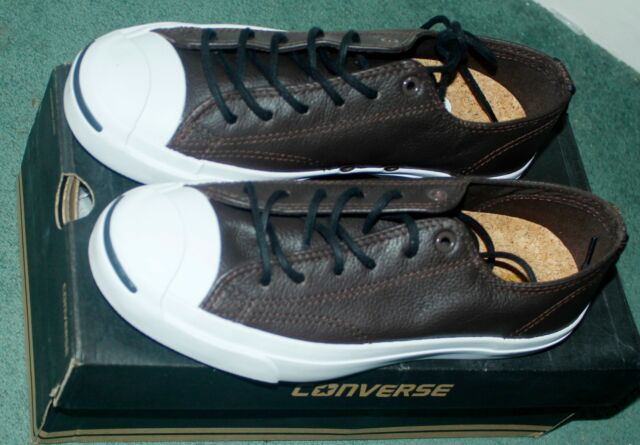 b32c2ac577aa CONVERSE Men Jack Purcell Leather OX Brown WHITE UNISEX Ladies TRAINERS  Shoes 6