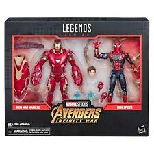 in Hand Marvel Legends 80th Anniversary Infinity War Ironman Mk-50 & Iron Spider
